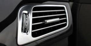 Clean, cool air from the car air conditioning vents.